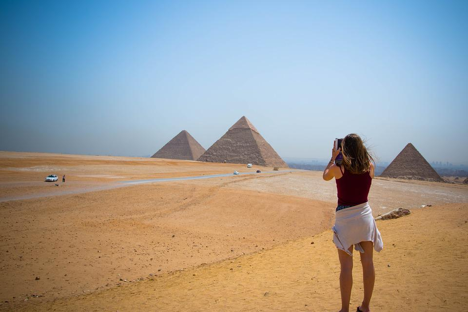 Pyramid, Egypt, Girl, Egyptian, Ancient, Travel