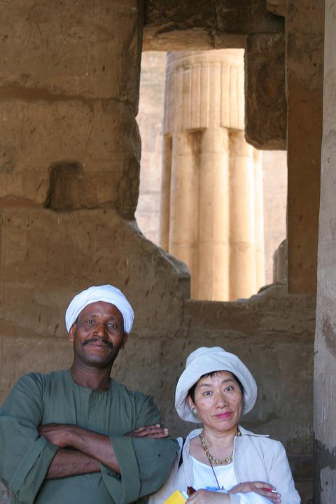 Egypt, Luxor, Temple, Hole, Turban, Hat, Journey