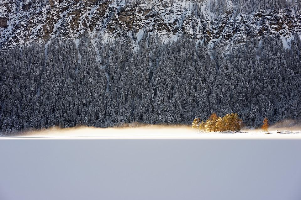 Eibsee, Bavaria, Alpine, Winter, Nature, Sky, Frost