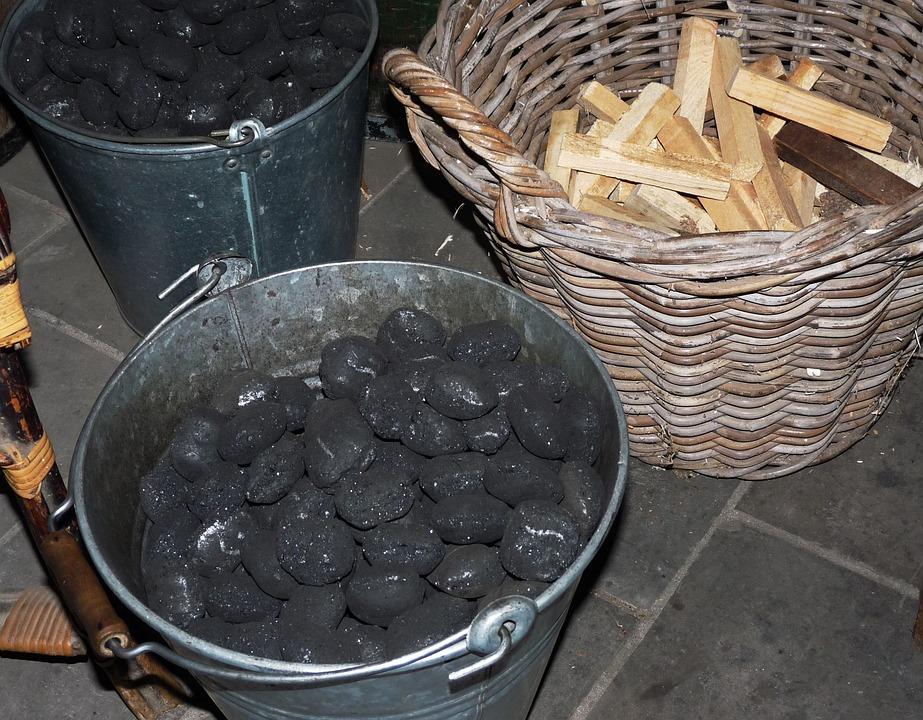 Carbon, Eierkohle, Bucket, Basket, Heat, Heating