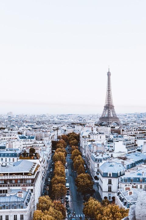 Paris, Eiffel, France, Architecture, Street, View