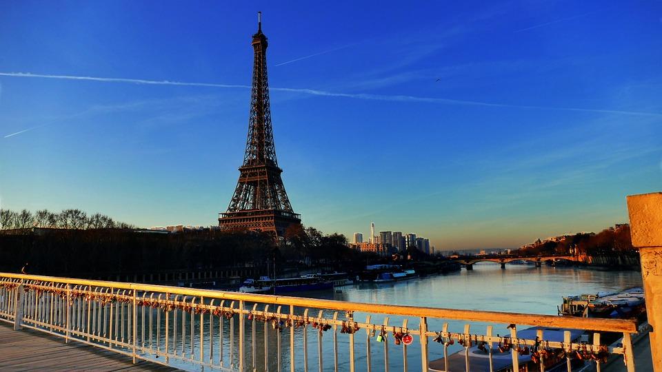 Tower, Eiffel, Seine, Paris, Bridge, River, Holiday