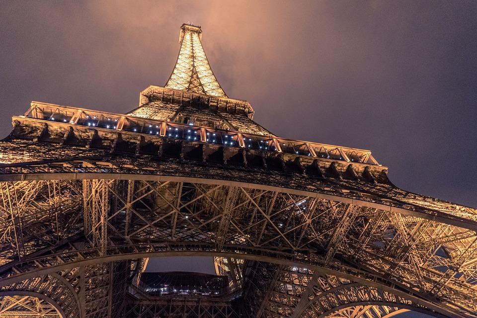 Architecture, City, Eiffel Tower, Landmark, Light