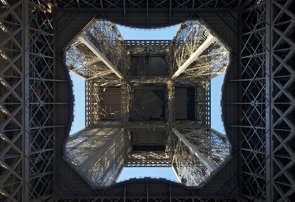 Eiffel Tower, Paris, France, Looking, Up, Center