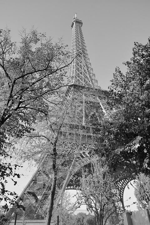 Eiffel Tower, Photo Black White Eiffel Tower
