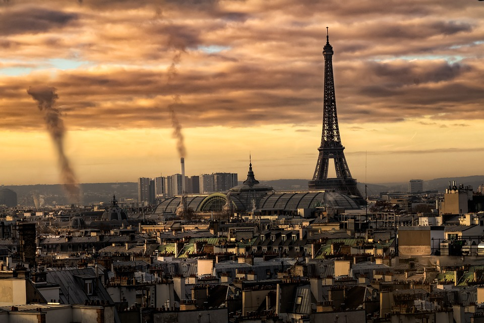 Paris, Eiffel Tower, France, Symbol, Tourism, Evening