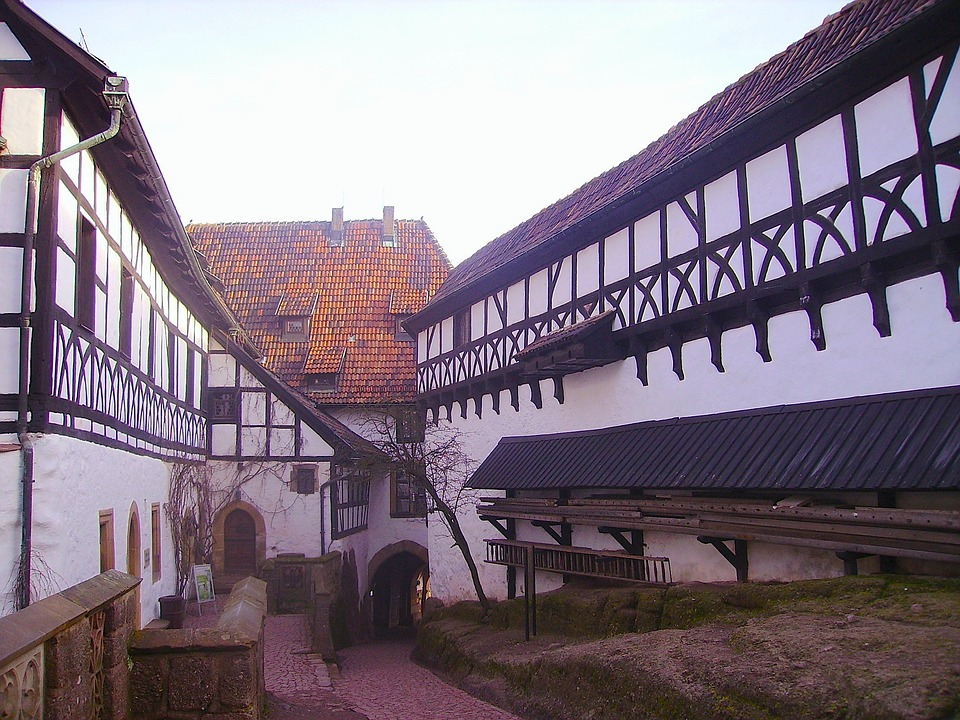Eisenach, Germany, Buildings, Sky, Clouds, Architecture