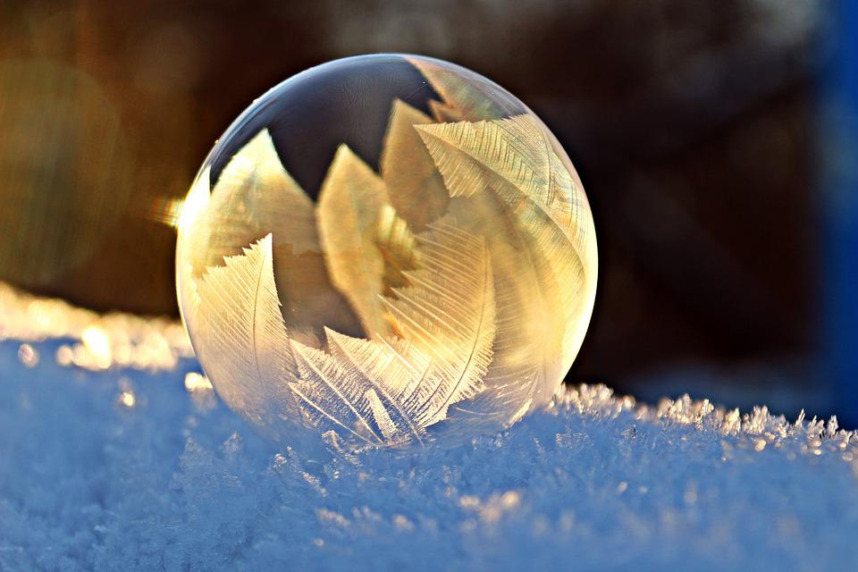 Soap Bubble, Frost, Snow, Bubble, Eiskristalle, Winter