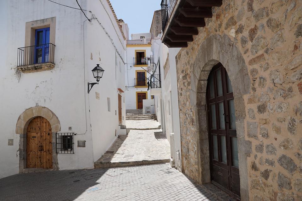 Ibiza, Eivissa, City, Vacations, Alley, Road, Stones
