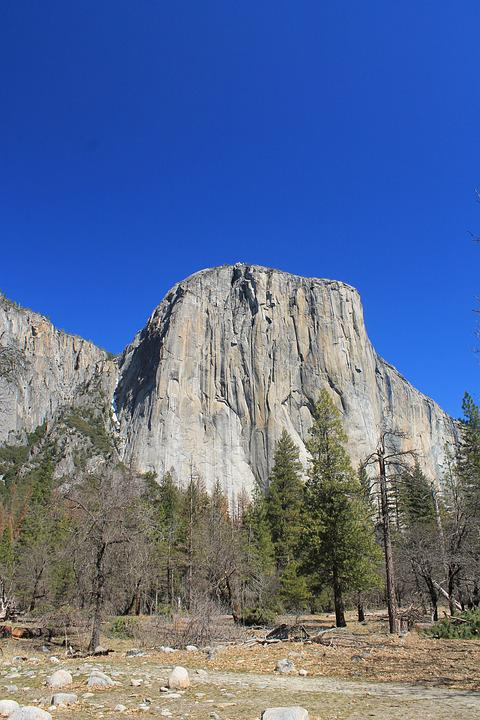 El Capitan, Yosemite, Usa, California, National, Nature