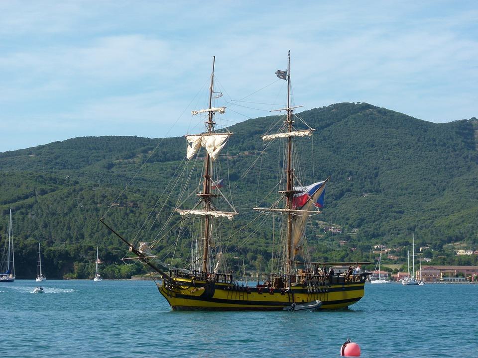 La Grace, Tall Ship, Saling Boat, Elba