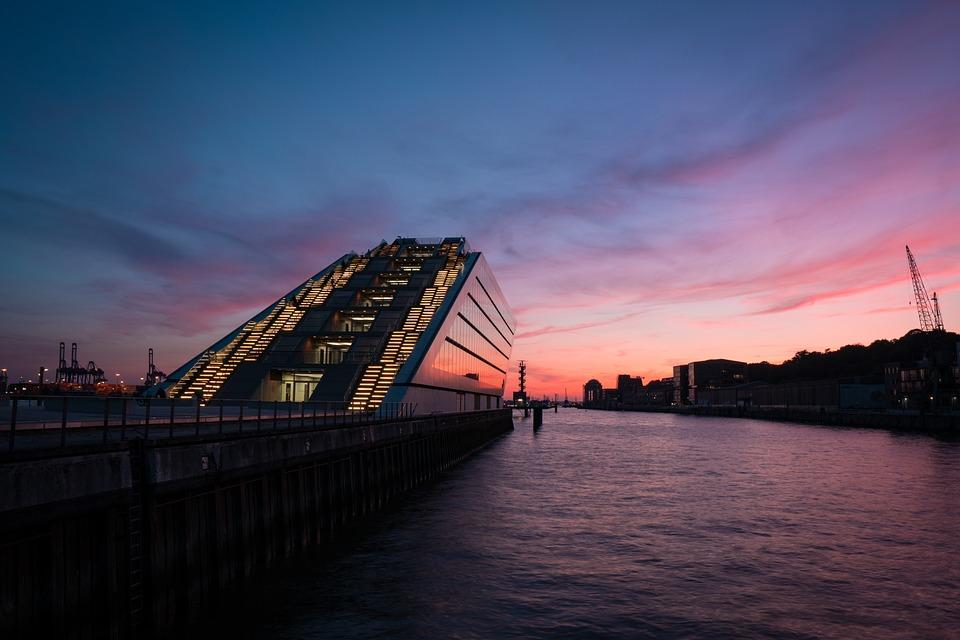 Dockland, Hamburg, Port, Architecture, Elbe, Water