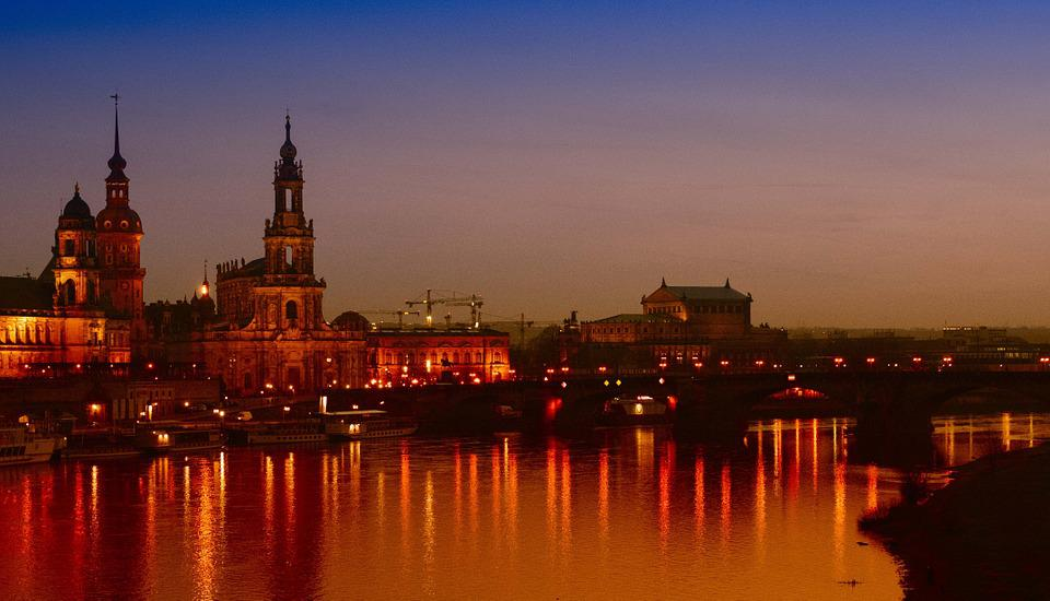 Dresden, City, Frauenkirche, Old Town, Elbe, Saxony