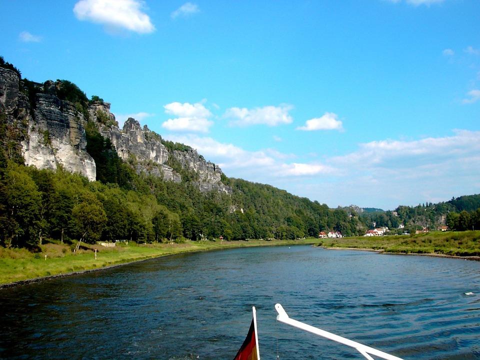 Elbe, River, Elbe Sandstone Mountains, Rock