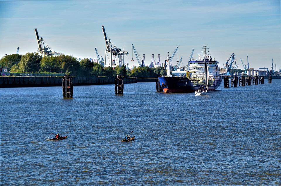 Elbe, Port, Hafencity, Hamburg, Germany, Port Motifs