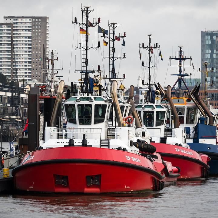 Tug, Towing Vessel, Port, Elbe, Ship, Maritime