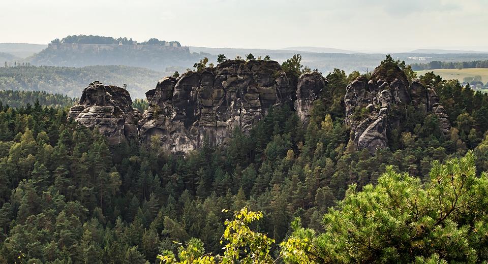 Saxon Switzerland, Elbe, Rock, Saxony, Nature