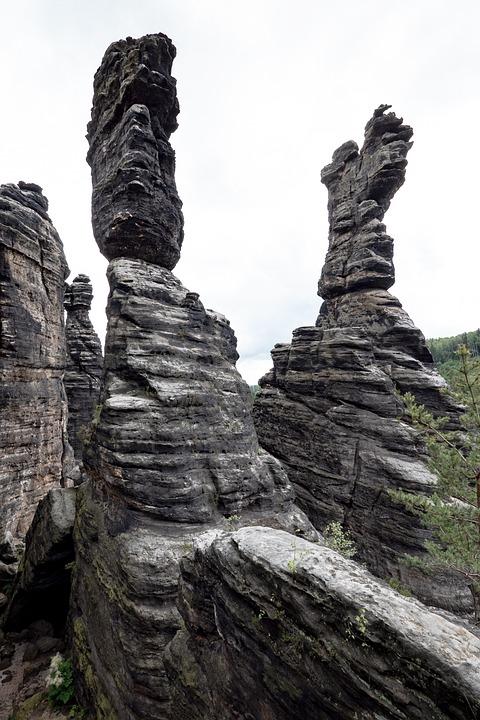 Elbe Sandstone Mountains, Stone Pillars, Elbe Sandstone