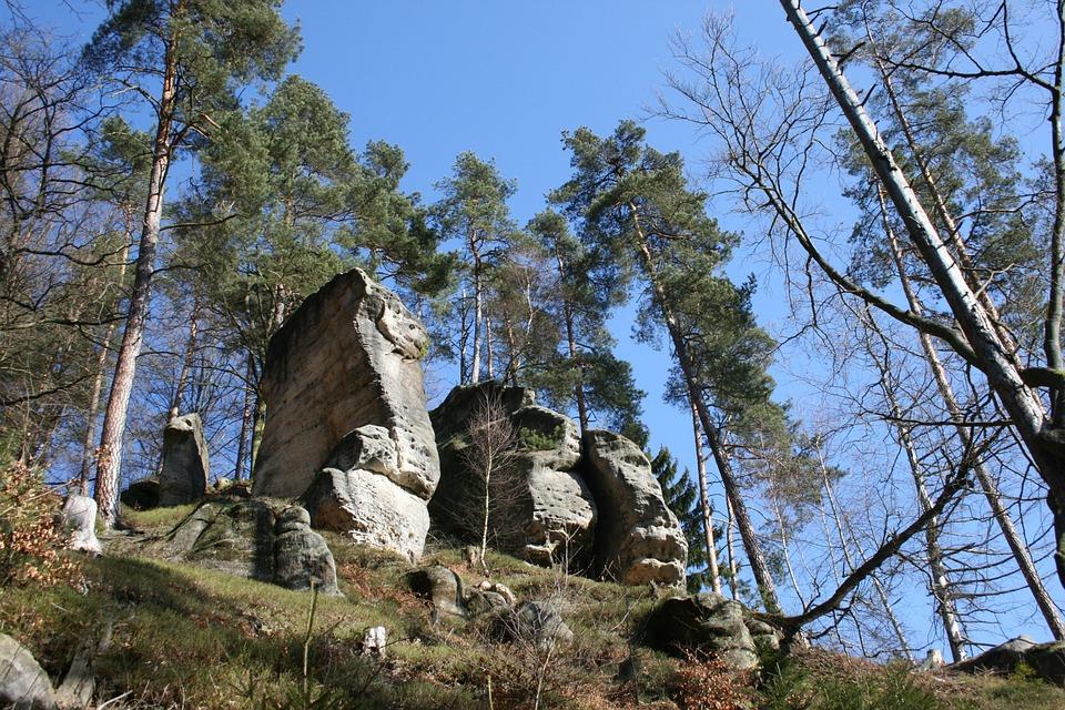 Land, Elbe Sandstone, Mountains, Sky, Landscape, Hiking
