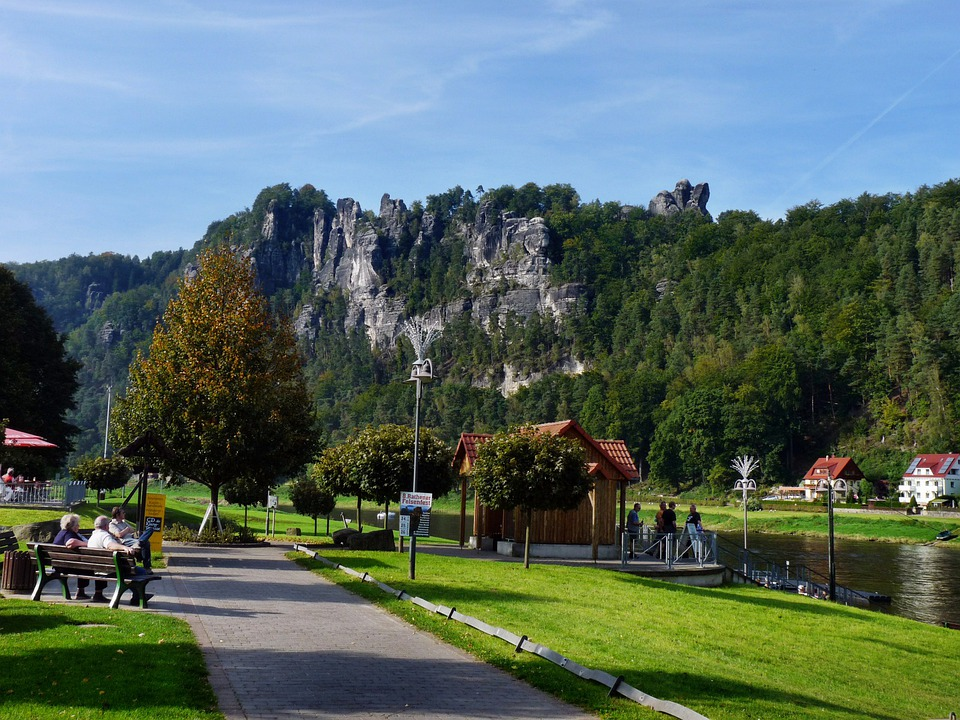 Rock, Bastei, Elbe, Saxon Switzerland, Bastion Views