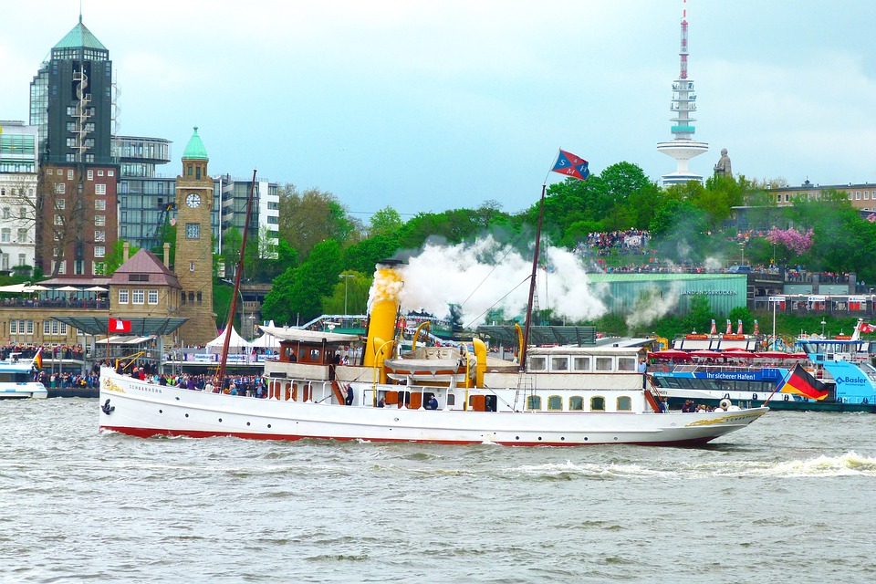 Steamboat, Hamburg, Elbe, Port, Hafengeburtstag