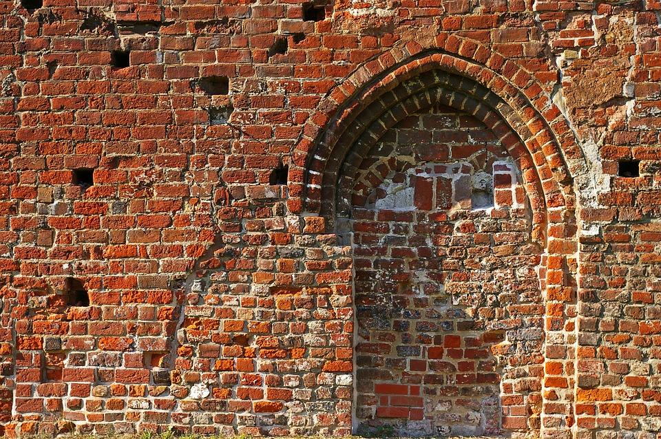 Wall, City Wall, Eldena, Greifswald, Monastery Ruins