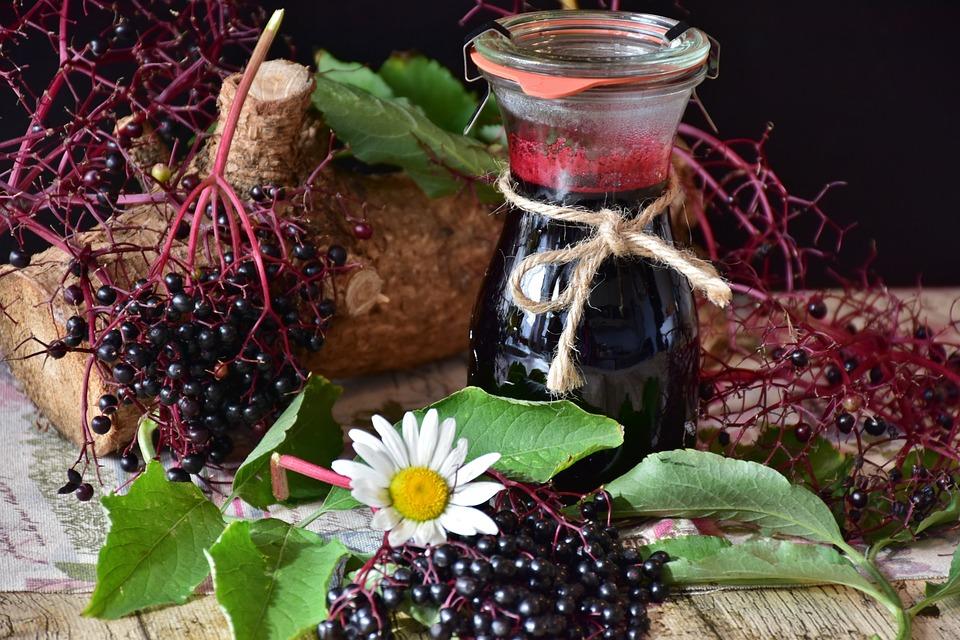 Elder, Elderberries, Berries, Juice, Fruits