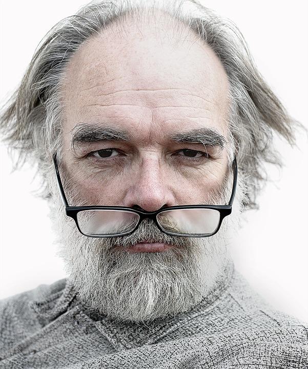 Man, Portrait, Old, Glasses, Artist, Wrinkles, Elderly