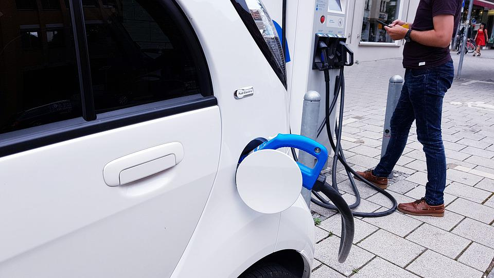 Electric Car, Charging Station, Electric Cable