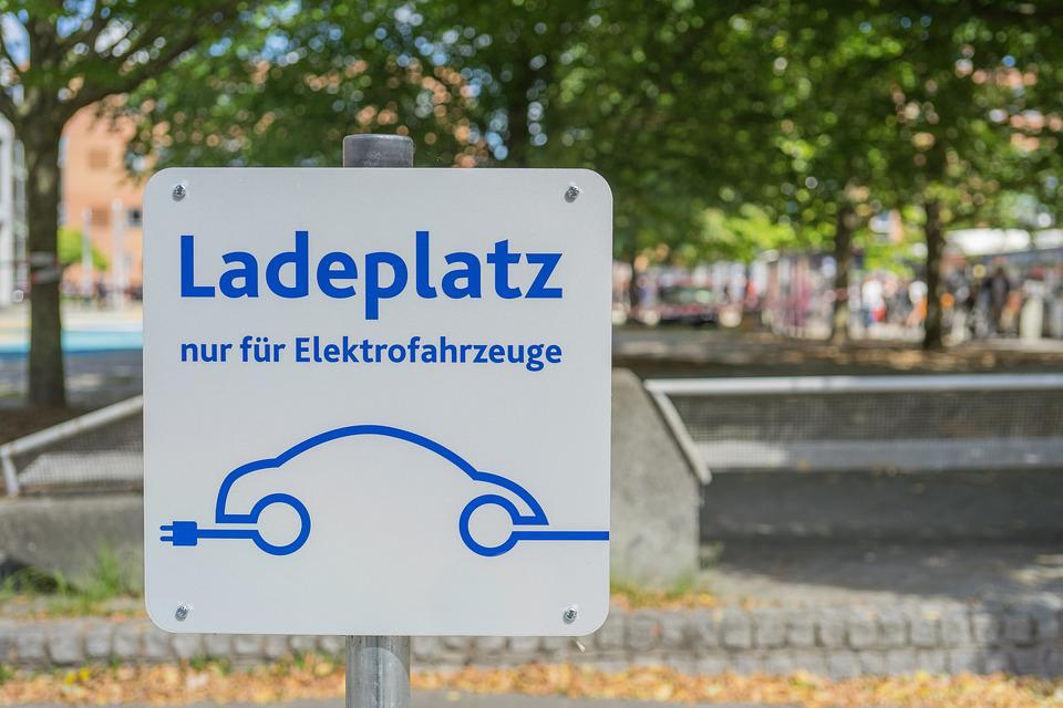 Electric Car, Load Space, Charging Station, Parking
