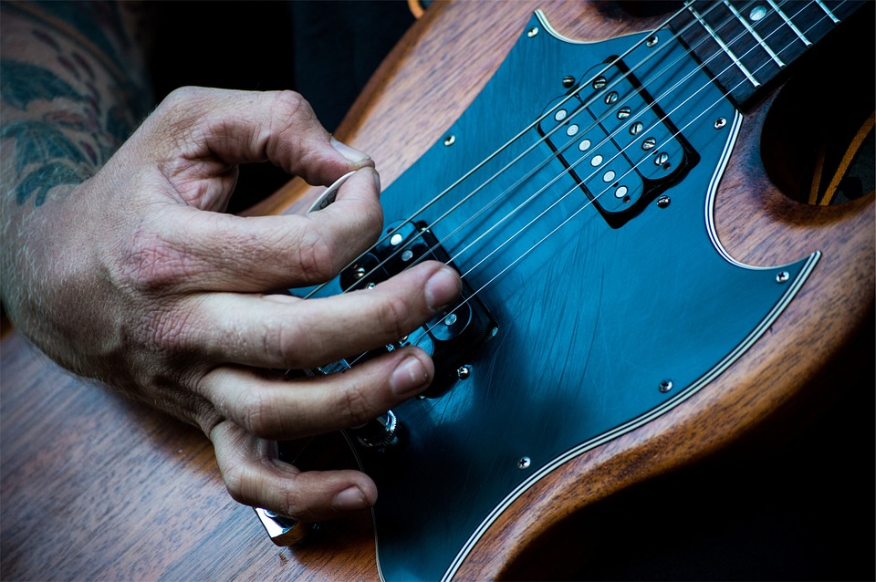 Electric Guitar, Musician, Instrument, Pick, Hands