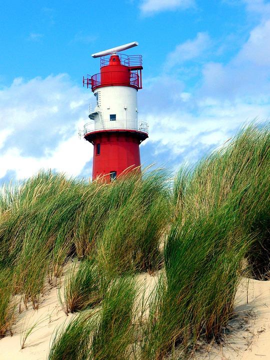 Electric Lighthouse, Red White, Borkum