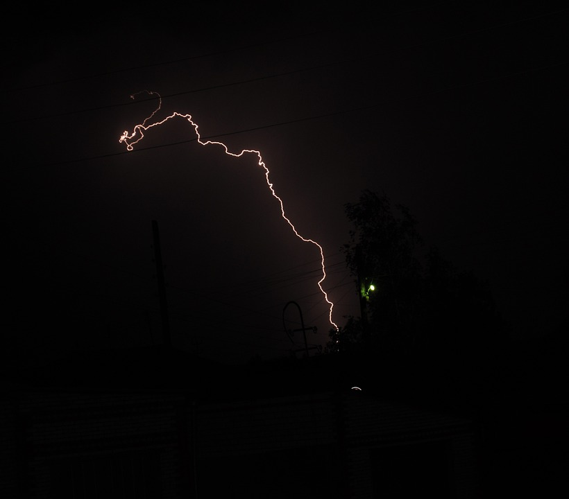 Lightning, Thunderstorm, Electrical Storm, Night