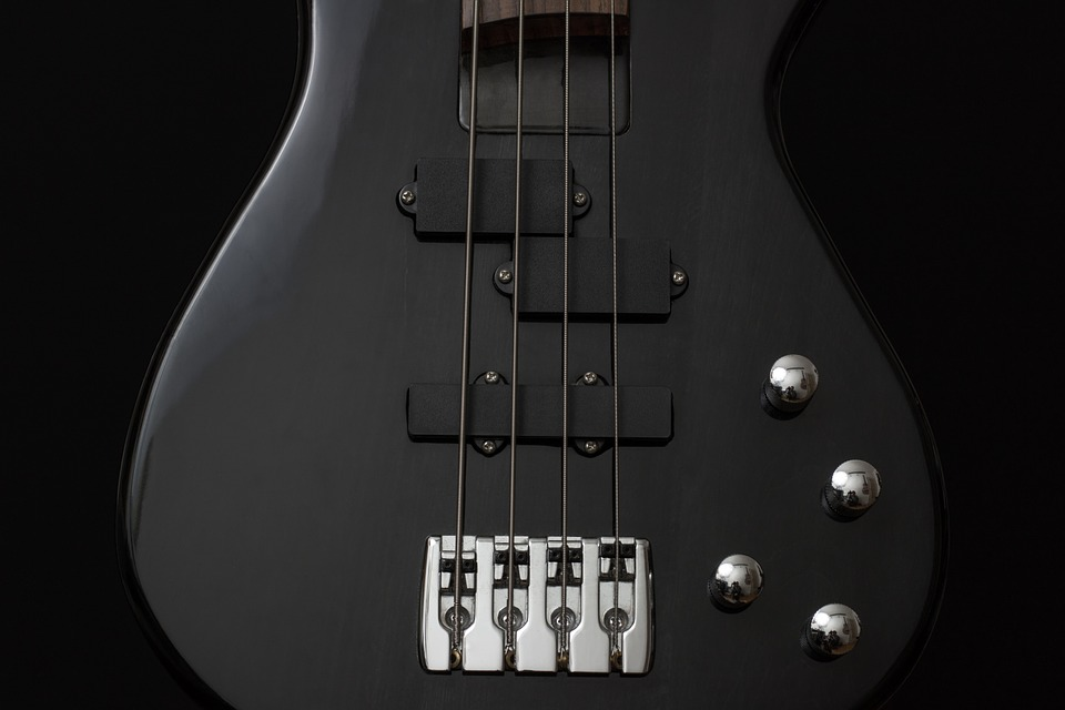 Guitar, Bass, Instrument, Black, Electrically, Music