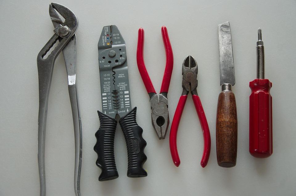 Tool, Equipment, Pliers, Steel, Electrician, Industry