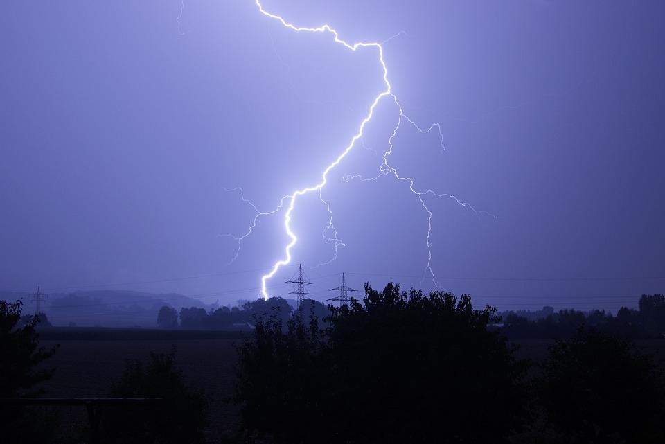 Flash, Electricity, Thunderstorm, Forward, Night, Sky