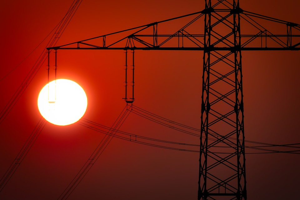 Industry, Sky, Sun, Electricity, Sunset, Dusk