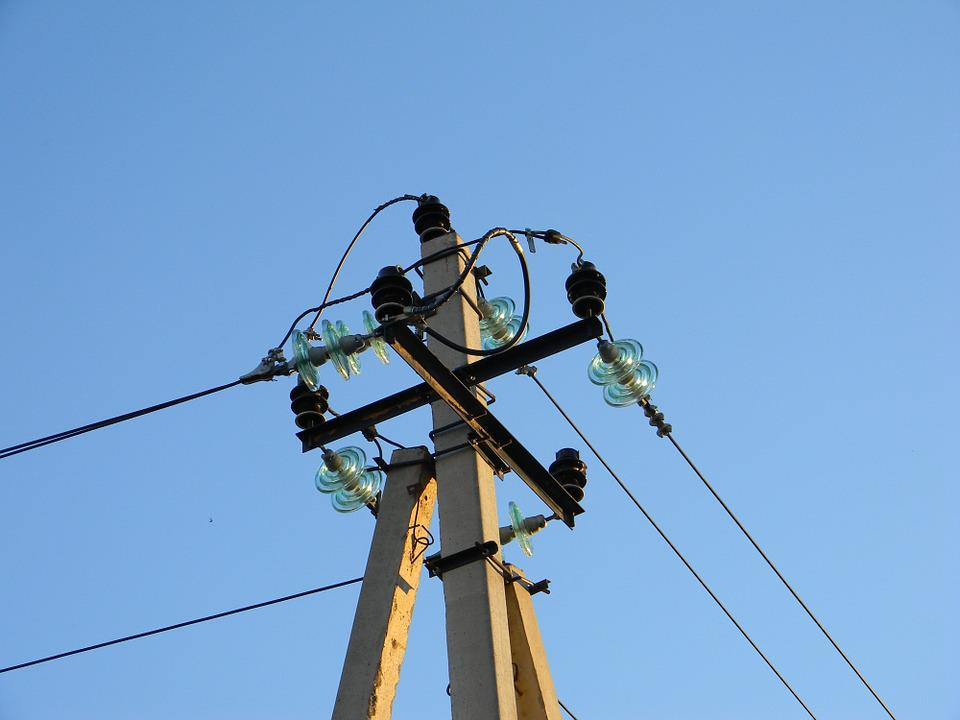Electricity, Wire, Post, Engineering, Insulators