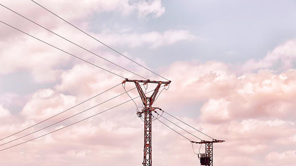 High-tension Towers, Cables, Electricity, Power Supply