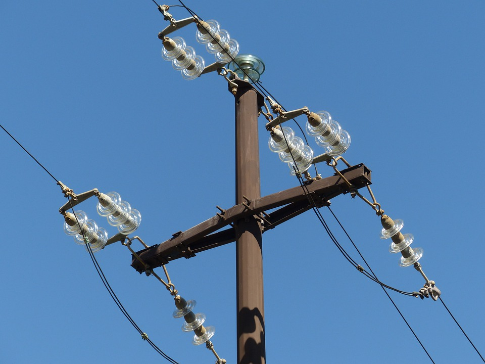 Free photo Electricity Pylon Insulators Overhead Line Strommast ...