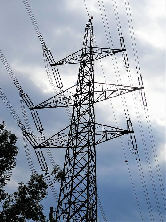 Current, Line, Electricity Pylon Power Line