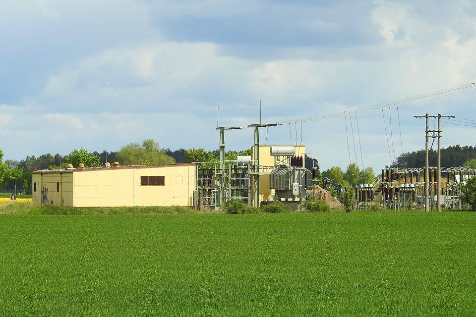 Transformer Station, Substation, Electricity, Energy