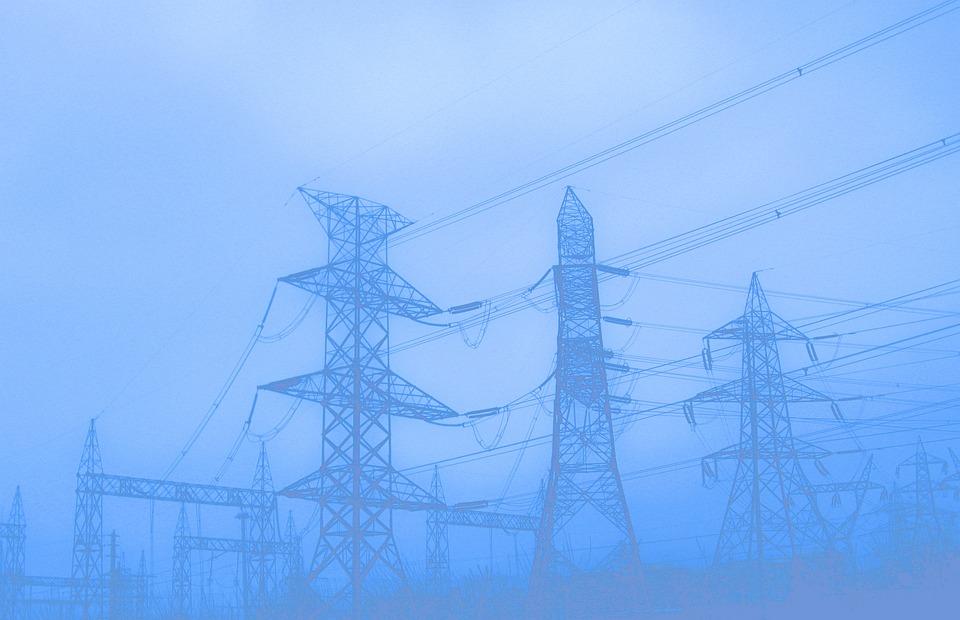 Pylons, Utility Poles, Electricity, Power, Voltage