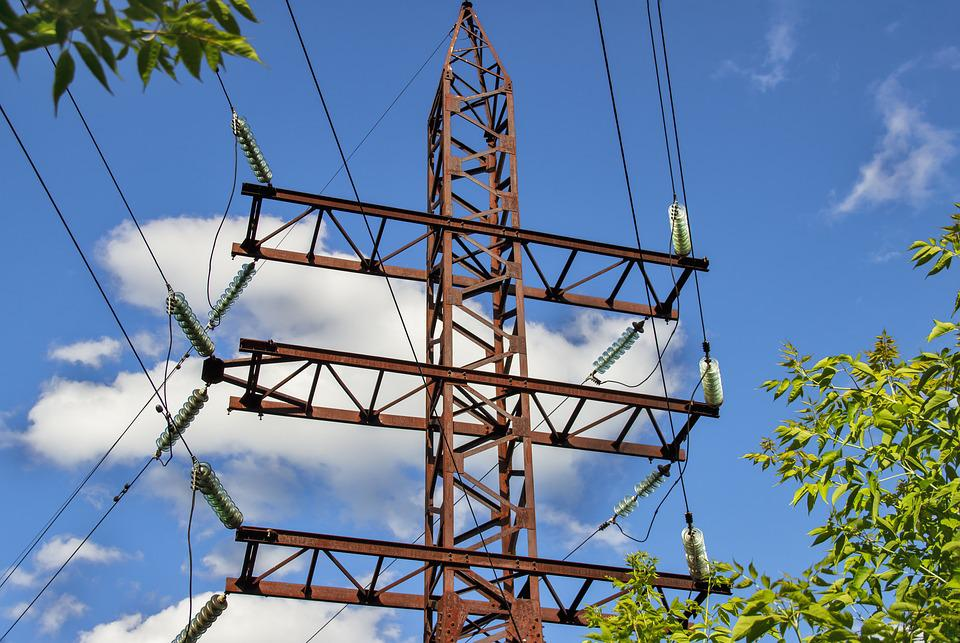 Power Lines, Wire, High Voltage, Cable, Electricity