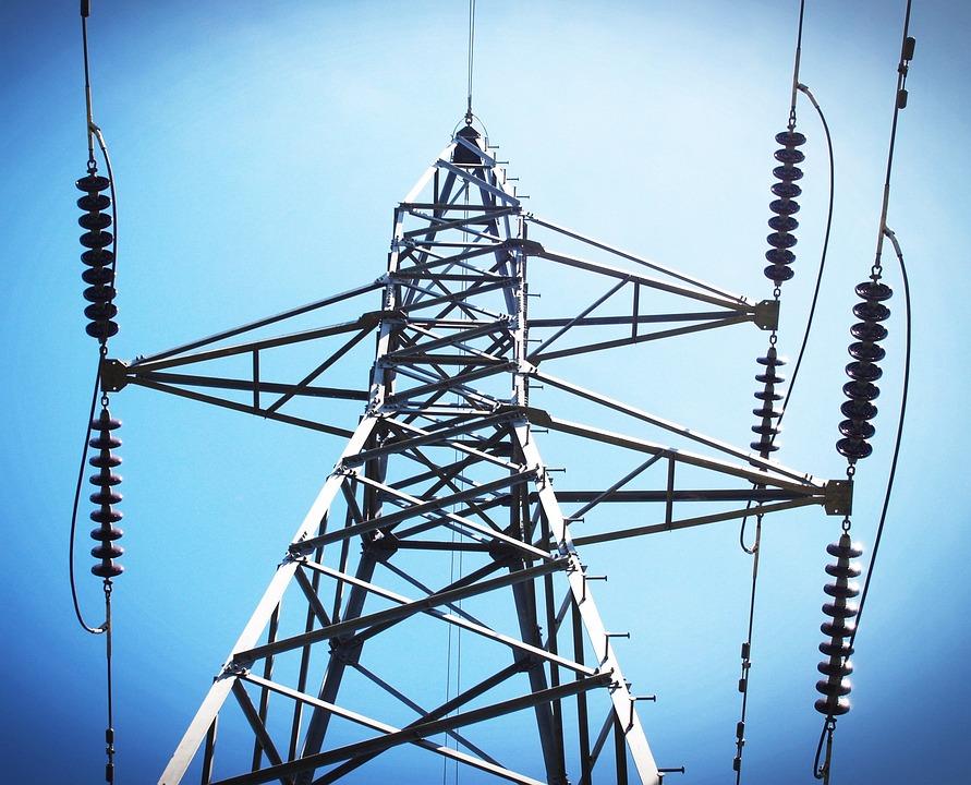 Power, Electricity, Line, Pylon, Sunset, Grid, Wire