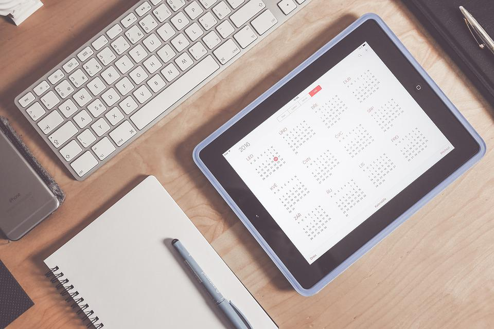 Apple, Calendar, Desk, Device, Electronics, Keyboard