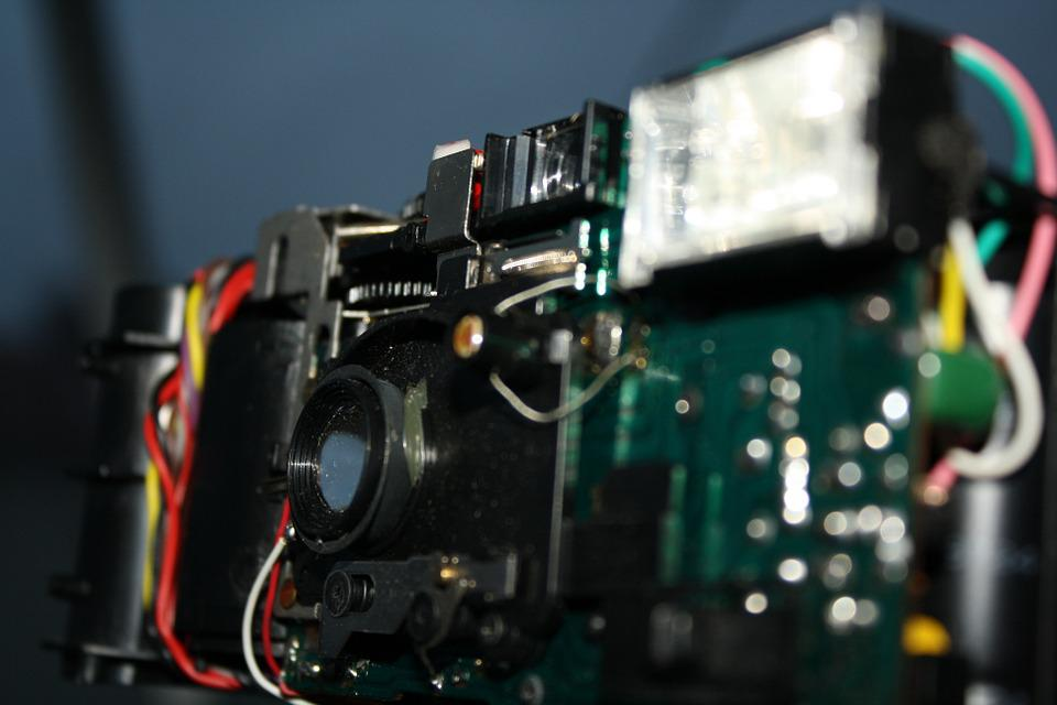 Camera, Circuit Board, Electronics, Old, Recycling