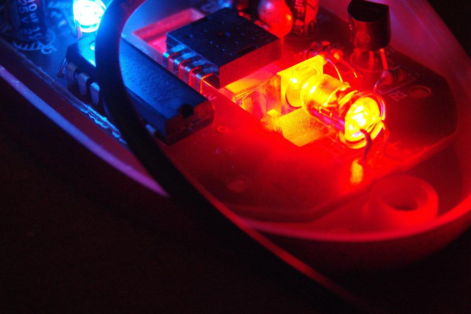 Electronics, Blue, Red, Light, Led, Technology