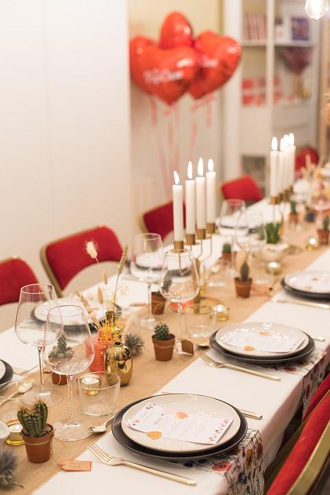 Dinner, Reception, Table, Decoration, Elegant, Flowers