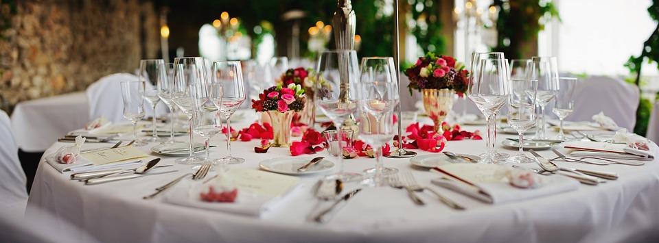 Restaurant, Table Setting, Decoration, Dishes, Elegant